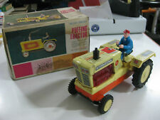 VINTAGE ALPS TOY PUFFING TRACTOR-JAPAN-BATTERY TIN TOY-NEW IN BOX-UNUSED-1960'S