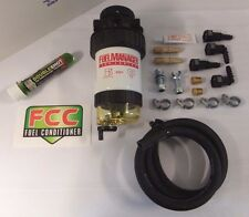 SECONDARY FUEL FILTER MANAGER KIT. 10MM QUICK RELEASE inc FCC FUEL CONDITIONER