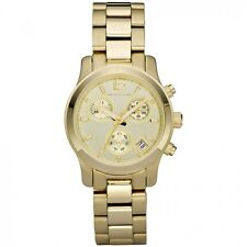 Michael Kors Women's MK5384 Gold Chronograph Dial Stainless Steel Bracelet Watch