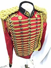 SDL Steampunk Red/Black Military Jacket Chest Size 42/44 Inches With Gold