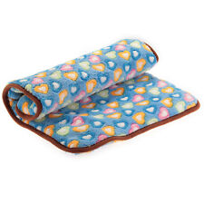 NEW Blanket Coral Fleece Hearts-shaped Pattern for Pet Dog Cat Mat Bed UK Warm