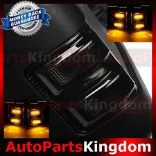 Smoke Lens LED Side Mirror Marker Lights 2008-2016 Ford F250 F350 F450 F550 Pair