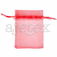 25/50/100/200pcs Organza Wedding Favour Gift Bags Candy Jewelry Pouches 17x23cm