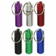 Gift Idea 5pc Water Resistant Small Pill Containers w/ Keychain Geocaching Tool
