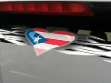 Puerto Rico Flag - Tribal Heart windshield decal sticker window Honda Toyota