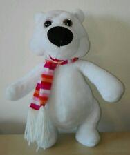 Peluche orso polare con sciarpa 30 cm pupazzo polar bear plush soft toys