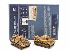 Axis and Allies United Kingdom Mk VII TETRARCH x2 with card 14/45 Wizards 34280