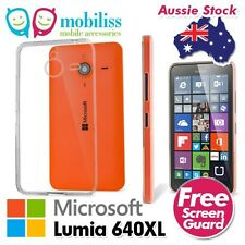Microsoft Nokia Lumia 640XL 640 XL TPU Gel Jelly Silicone Case Cover - Clear