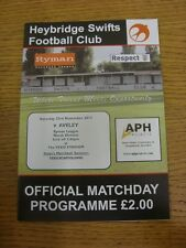 23/11/2013 Heybridge Swifts v Aveley  . Thanks for viewing this item, we try and