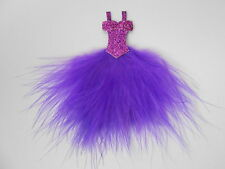 BEAUTIFUL PURPLE FEATHER DRESS EMBELLISHMENT TOPPER FOR CARDS/CRAFTS