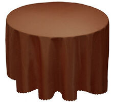 Plain Tablecloth Clean Round Circular Table Cloth 173cm Round 68""