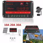 10A 20A 30A LCD Solar Panel Regulator Battery Charge Controller PWM Auto 12V 24V