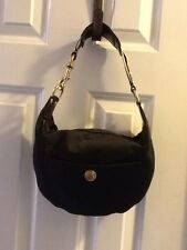 Coach 8F21 Hamptons Satin Black Handbag HANDBAG PURSE