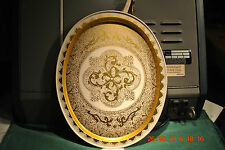 ART DECO / FOLK ART  VINTAGE METAL SERVING TRAY    NEW IN THE BAG