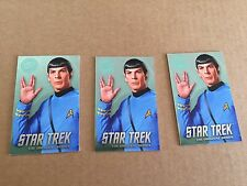 Lot Of 3 Elaut Star Trek FOIL Spock Card Dave And Buster's