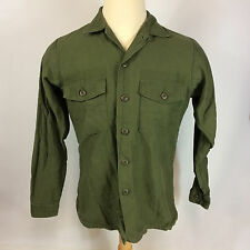 Minty 1 or 2 wash Vietnam War Sateen Army Military Utility OG 107 Shirt Uniform