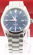 AUTHENTIC OMEGA SEAMASTER AQUA TERRA 2517.80 BLUE SWISS QUARTZ LUXURY WATCH