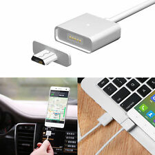 White Micro USB Magnetic Adapter Charger Cable Metal Plug For Android Samsung