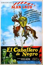 BLACK KNIGHT 1954 Alan Ladd, Patricia Medina, André Morell ARGENTINE POSTER