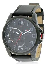 Tommy Hilfiger Black Ion Leather Chronograph Mens Watch 1791005