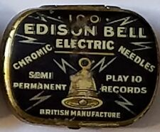 Gramophone phonograph needle tin nadeldose boite aiguilles - Edison bell (f98)
