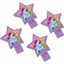 MY LITTLE PONY PLASTIC WHISTLES (4) ~ Birthday Party Supplies Favors Noisemakers