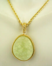 """Kenneth Jay Lane Drusy Necklace /Enhancer  32""""   ICE Pend is 1 1/2"""""""