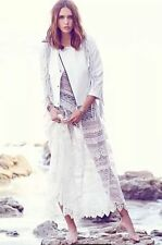 New $128 FREE PEOPLE Metered Meadows Lace Slip Dress White/Ivory XS