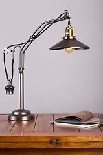 Vintage industrial table lamp in gold brass colour ideal for living room