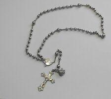 VTG OLD STERLING SILVER ROSARY BEADS