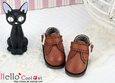 ☆╮Cool Cat╭☆【21-5】Blythe/Pullip Buckle Strap Side Mini Ankle Shoes # Brown
