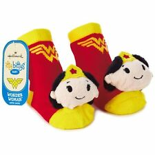 WONDER WOMAN itty bittys® Baby Rattle Socks Shoes Hallmark Gift 0-12 New!!