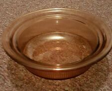 AMBER CORNING VISION WARE ROUND 24 OZ RIBBED CASSEROLE/SERVING DISH