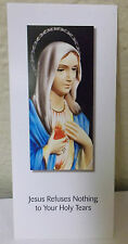 Our Lady of Tears Prayer Card, from the Shrine in Siracusa, Italy, NEW