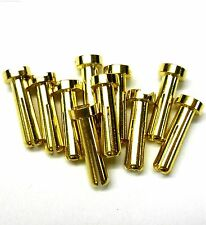 C0407x10 RC Connector 4mm 4.0mm Gold Plated Male Bullet Banana x 10 Set