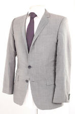 HUGO BY HUGO BOSS GREY WOOL & MOHAIR MEN'S SUIT JACKET 36R DRY-CLEANED