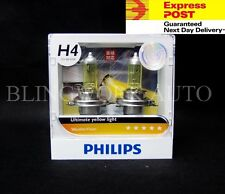 H4 Philips 12V 60/55W Weather Vision Halogen 2900K Yellow Light Globes bulbs