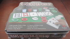 NEW SEALED TIN CARDINAL'S PROFESSIONAL TEXAS HOLD'EM POKER SET-200 POKER CHIPS