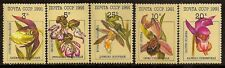 RUSSIA 1991 FLOWERS ORCHIDE SC # 5994-5998 MNH