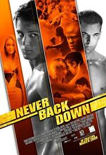 NEVER BACK DOWN MOVIE POSTER 2 Sided ORIGINAL 27x40 AMBER HEARD