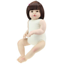 28'' Reborn Toddler Dolls Handmade Baby Lifelike Vinyl Naked Girl Doll DIY Gifts