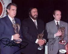 JOSE CARRERAS+PLACIDO DOMINGO HAND SIGNED 8x10 PHOTO       THREE TENORS    JSA
