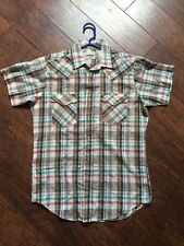 Vintage Campus-Rugged Country Western Pearl Snap Shirt Size S/M