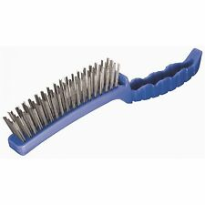Oates 4-ROW STEEL WIRE BRUSH Ideal for Mechanical Jobs Plastic Blue - Aust Brand