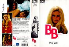 """VHS - """" Don JUAN """" (1973) - Brigitte BARDOT - Jane Birkin - Roger Vadim"""