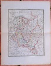 1855, Carte : RUSSIE D'EUROPE et POLOGNE - 53 x 67 cm.- Andriveau Goujon