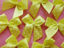 100! Pretty Polka Dot Bows - Lovely Yellow Bow Embellishments For Cardmaking!
