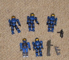 HALO Mega Bloks Mixed Lot Of 5 mini figures with accessories Blue Spartans A