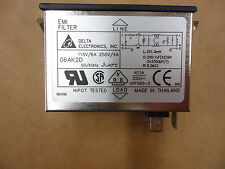 Delta 06AK2D Power Entry Module Filtered. Brand New! 3 Pieces!