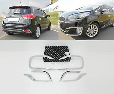 Chrome Fog Lamp Garnish Molding 6Pcs 1Set For KIA New Rondo Carens 2014 2016